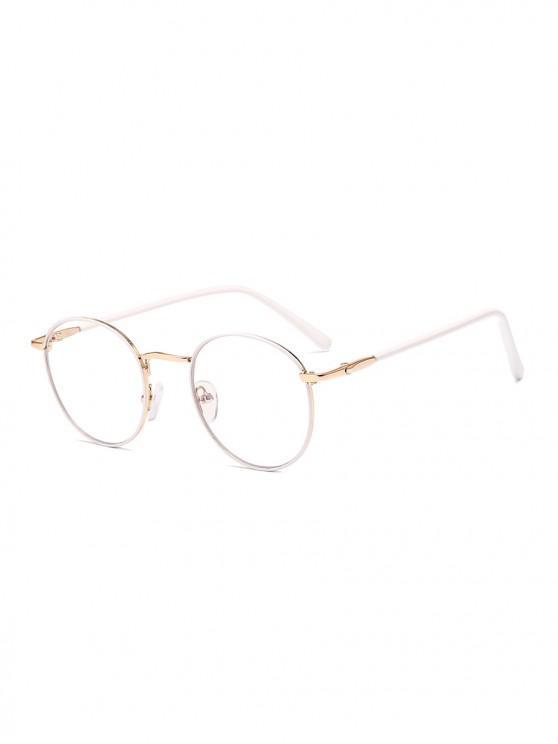 women Vintage Round Brief Transparent Glasses - WHITE