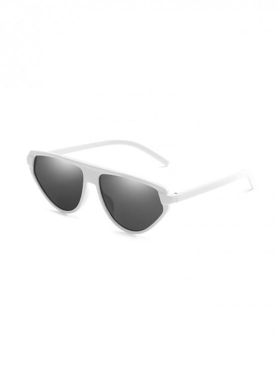 Occhiali da sole irregolari con protezione UV - Bianca