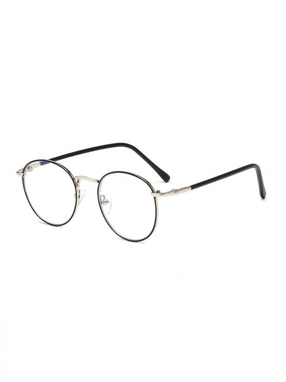 latest Vintage Round Brief Transparent Glasses - CHAMPAGNE GOLD