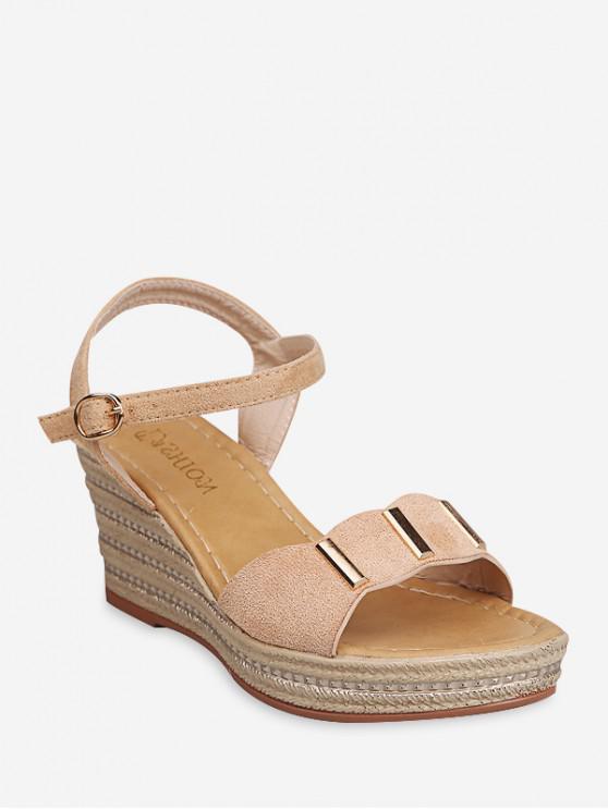 Sandali con cinturino alla caviglia con cinturino e tallone in metallo - Albicocca EU 36