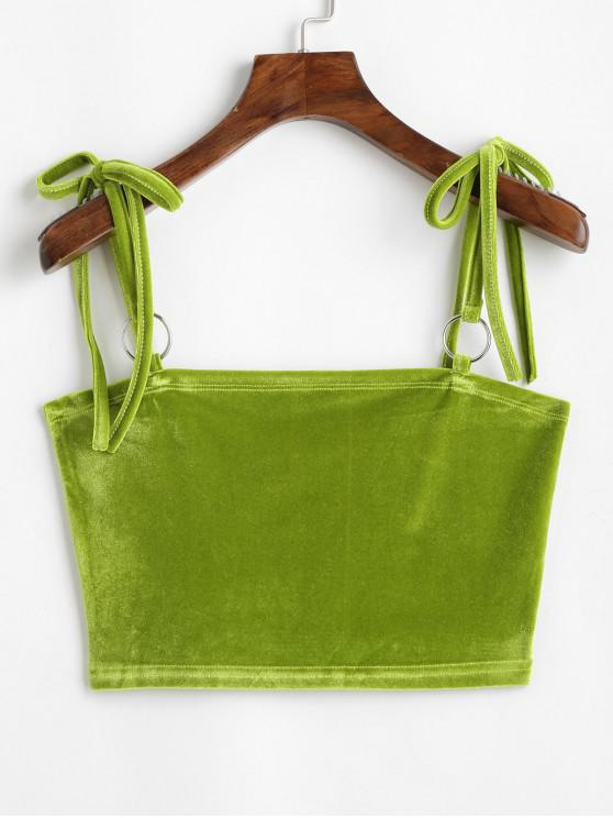 Top Cami Cropped in velluto Neon O Ring - Serpente Verde S