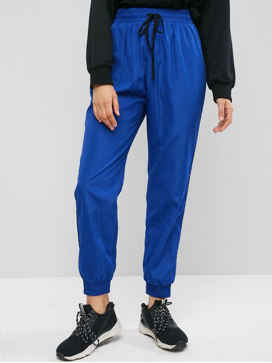 Cortavientos Racing Stripes Jogger Pantalones - Azul Océano  S
