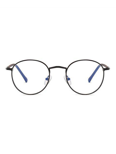 Винтажные Круглые Прозрачные Очки - Черный угорь  Mobile