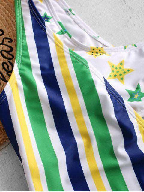 Bañador de una sola pieza con estampado de bandera brasileña ZAFUL - Multicolor-A L Mobile