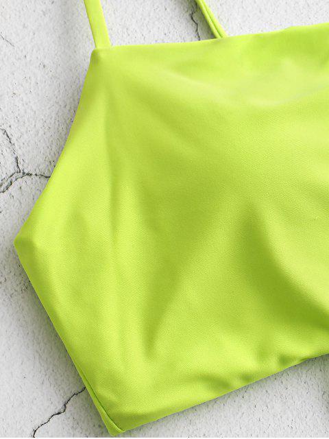 Bañador Tankini con cordones y nudo ZAFUL - Té Verde M Mobile