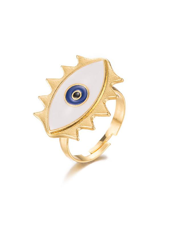 Devil Eye Cuff Ring, Gold
