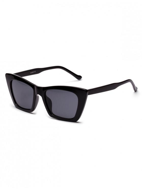 fancy Street Snap Geometric Frame Sunglasses - BLACK