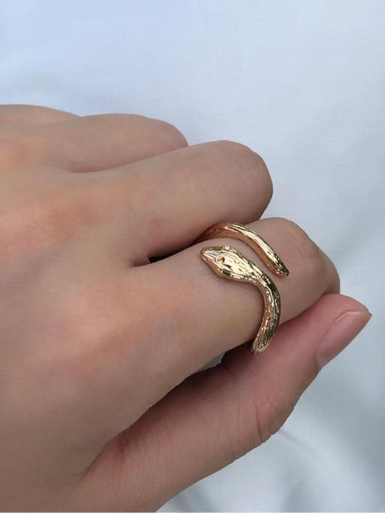 women Metal Snake Cuff Ring - GOLD