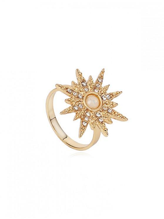 Anello opale finto strass Starlight - Oro Stati Uniti 6