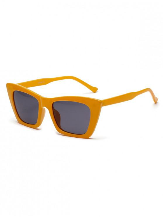 affordable Street Snap Geometric Frame Sunglasses - BEE YELLOW