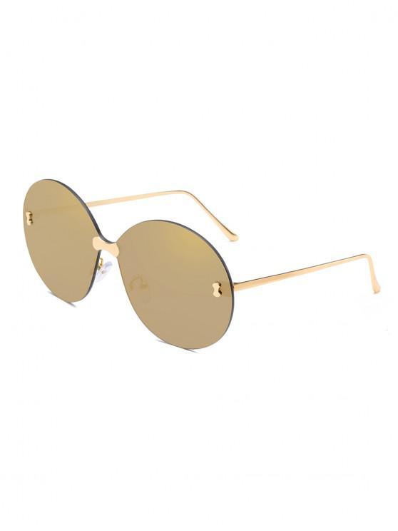 Metal No Frame Sunglasses - oro di champagne