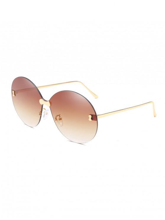 online Metal No Frame Sunglasses - CAMEL BROWN