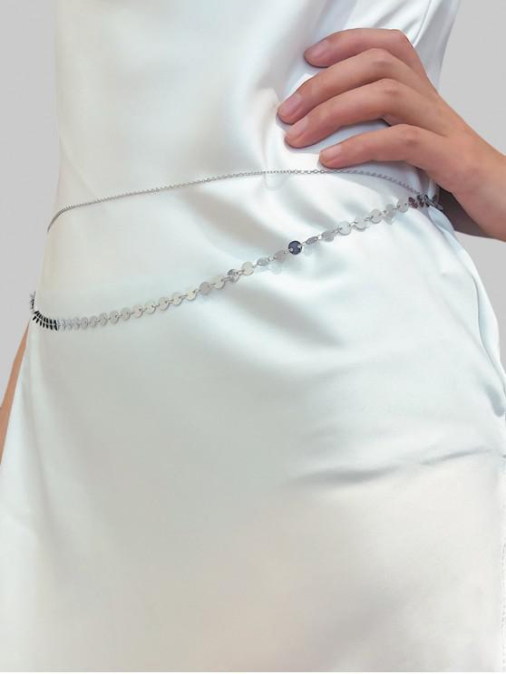 best Sequins Layered Waist Chain - SILVER