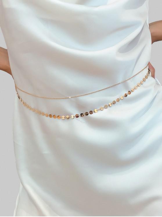 new Sequins Layered Waist Chain - GOLD
