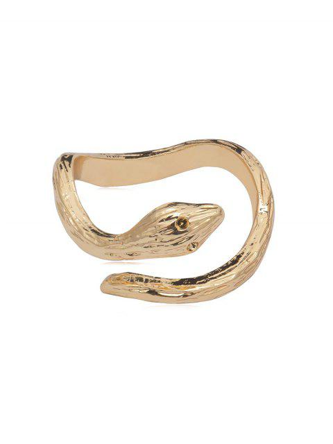 women Metal Snake Cuff Ring - GOLD  Mobile