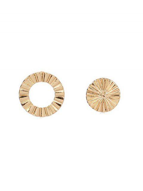 Асимметричные Круглые Серьги - Золотой  Mobile