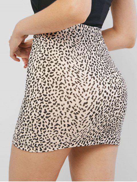 trendy High Waist Leopard Print Sheath Skirt - LEOPARD S Mobile