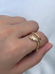 حلقة معدنية ثعبان الكفة - ذهب