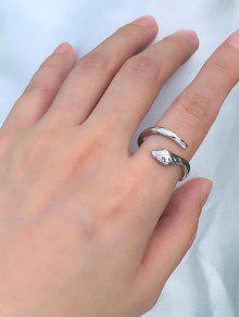 حلقة معدنية ثعبان الكفة - فضة