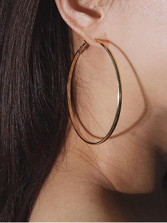 Set di orecchini a cerchio breve 4Pairs - Multi Colori-A