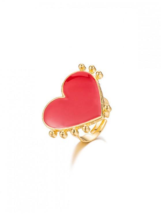 Anello aperto a forma di cuore romantico - Oro
