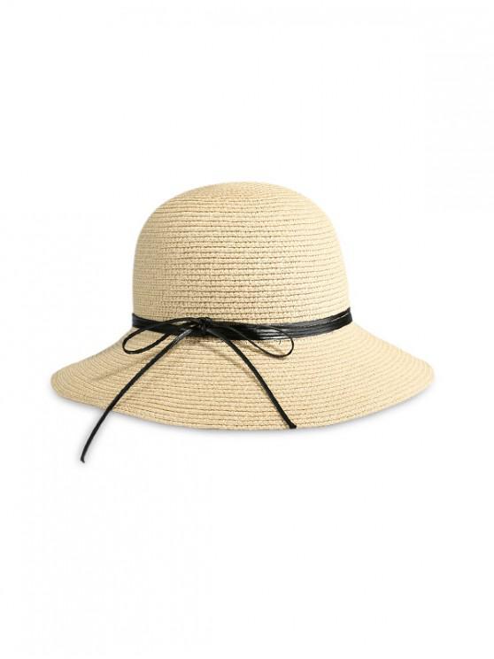 Cappello da spiaggia in paglia di Big Edge Bow Beach - Beige