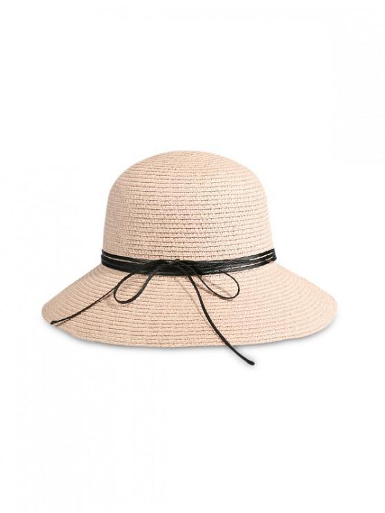 Cappello da spiaggia in paglia di Big Edge Bow Beach - Rosa