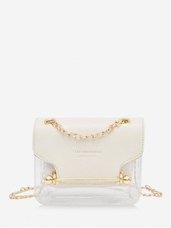 affordable Crossbody Character Pattern Transparent Shoulder Bag - MILK WHITE