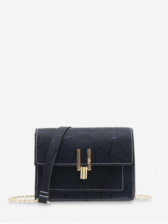 online Cover Chain Geometric Crossbody Bag - BLACK