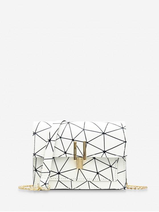 shop Cover Chain Geometric Crossbody Bag - WHITE