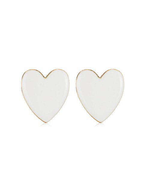 Романтические Серьги Форма сердца - Белый  Mobile