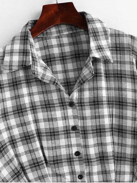 best Button Up Plaid Shirt - MULTI XL Mobile