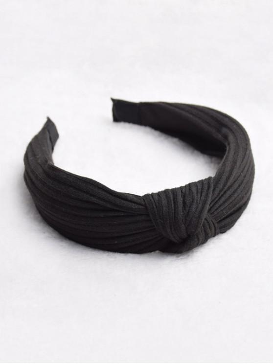 sale Striped Pattern Classic Solid Hairband - BLACK