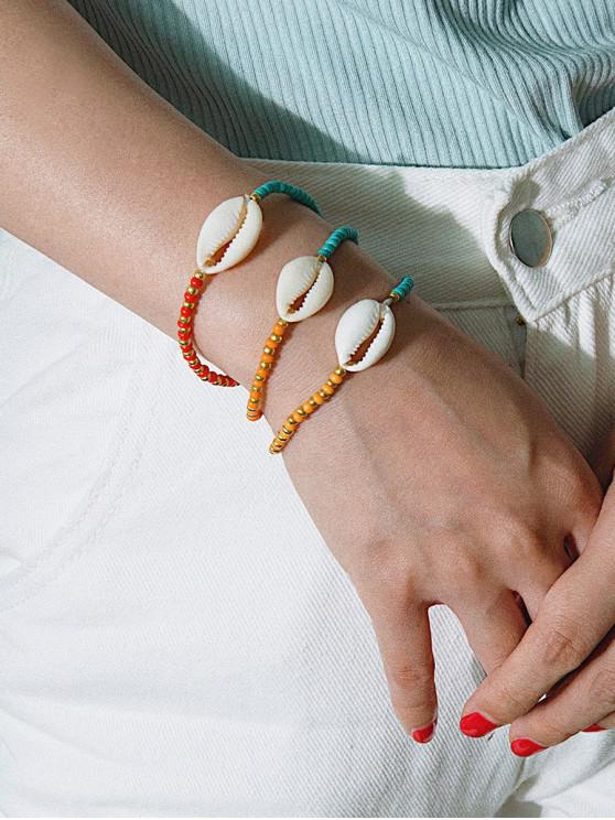 Set bracciale conchiglia perline colorate 3 pezzi - Multi Colori-A
