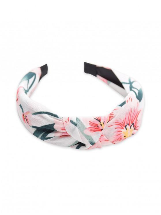 Hairband cinese della pittura del modello di fiore - Bianca