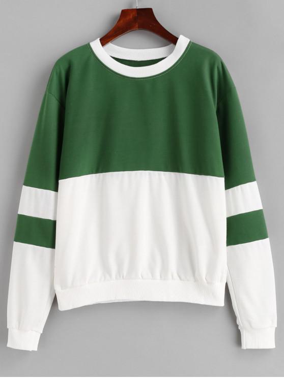 Sweat-shirt Bicolore à Revers - Multi S