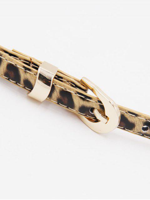 women Leopard Thin Pin Buckle Dress Belt - LEOPARD  Mobile