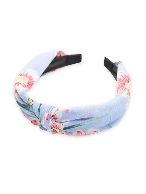 Bandeau de Cheveux Peinture Chinoise Motif de Fleur - Azur  Mobile
