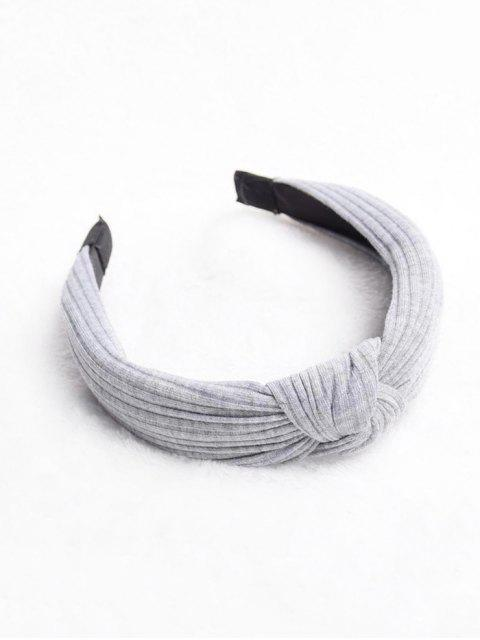 womens Dark Striped Pattern Solid Hairband - LIGHT GRAY  Mobile