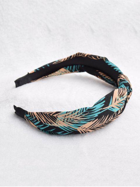 best Bohemia Leaves Print Hairband - BLACK  Mobile