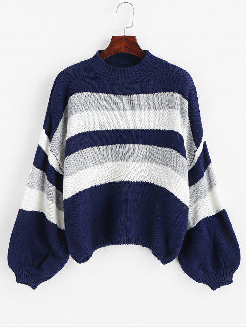 Suéter de rayas con manga de linterna - Multicolor Talla única Mobile