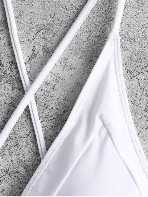 ZAFUL Принт фламинго Tie Dye Перекрестные шнурки Слитный Купальник - Многоцветный-A S Mobile
