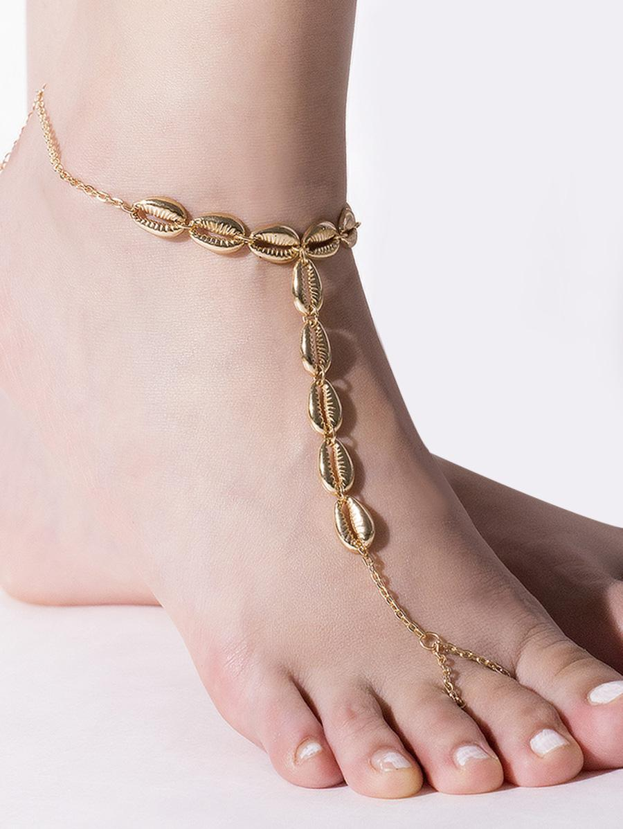 Shell Toe Ring Chain Anklet