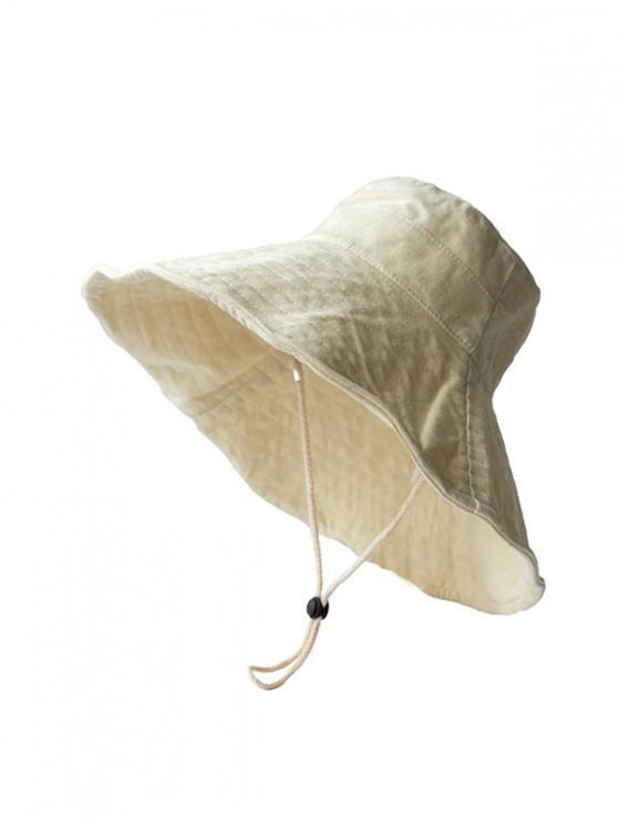 Cappello da pescatore traspirante a tesa larga resistente al sole - Beige