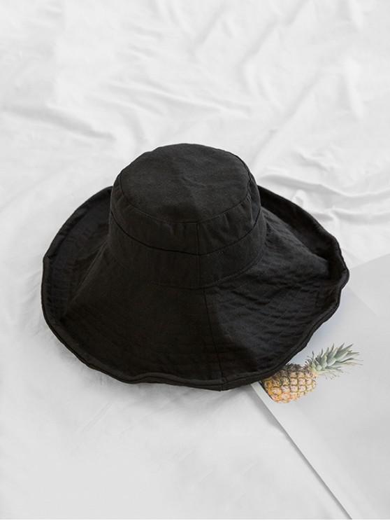 تنفس دلو واسعة حافة قبعة دلو - أسود
