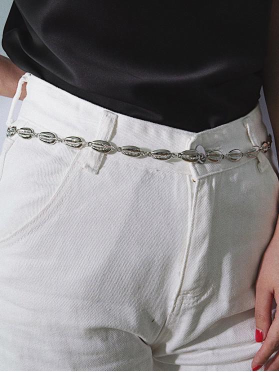fashion Simple Alloy Shell Waist Chain - SILVER