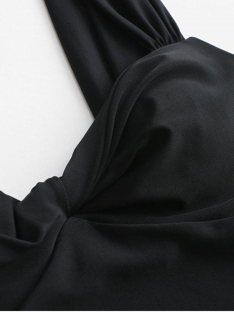 ZAFUL Maillot de Bain Tordu Sans Dos Une-Pièce - Noir S Mobile