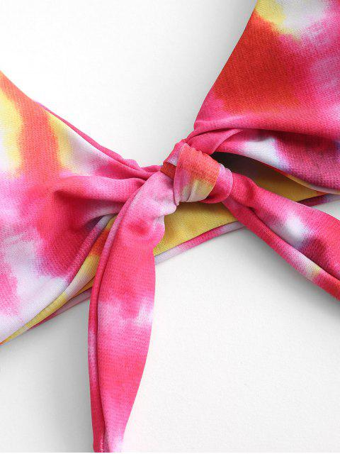 ZAFUL Krawattenfärbender Gepolsterter Bikini-Badeanzug - Multi-B L Mobile