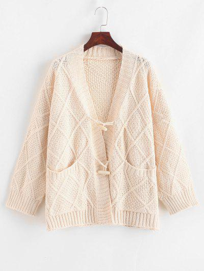Image of Chunky Knit Horn Button Cardigan
