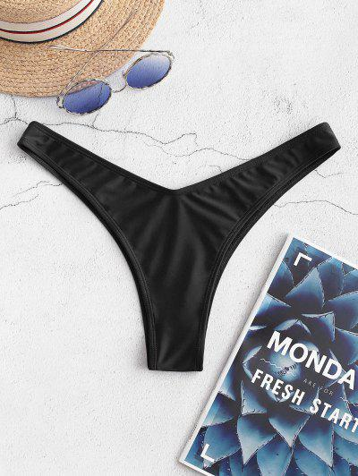 ZAFUL Cheeky High Leg Bikini Bottoms - Black M